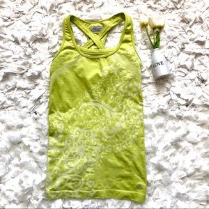 Athleta Lime Neon Green Seamless Bra Tank Top S
